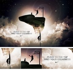Climb to the top, find your greatness. Nike Ad By Wielden+Kennedy Portland