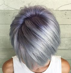 Violet and silver bob using Pulp Riot colors Lilac and Mercury with a bit of Smoke. #alexisbutterflyloft @pulpriothair @butterflyloftsalon
