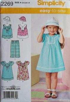 Girls' Dress Pattern Girls Top and Crops Pattern Sz 3 by blue510, $4.00