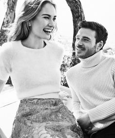Lily James & Richard Madden - Photographs by Williams + Hirakawa, People Magazine. Cinderella Movie, Cinderella 2015, Lily James, Pretty People, Beautiful People, Classy People, James Richards, Have Courage And Be Kind, The Way He Looks