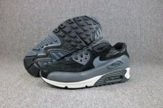 afdc2c2492 Unisex Nike Air Max 90 Lthr Black Metallic Hematite Dark Grey Silver 768887  001 Men's Women's Running Shoes 768887-001