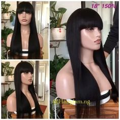 Hello Dolls... Its another oneeee  Where are my fringe lovers ? This new piece gives you a whole new look and takes a different dimension as your wig game sparks up with the beautiful collection....our wigs are the best truth be told....  Silky  Soft  Does not shed  can never tangle  low maintenance  can last atleast 5years  Send a dm or call the number on my Bio…