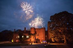 Fireworks at the wonderful Leez Priory of Melissa and David