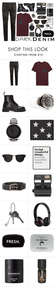"""""""whatever"""" by sofemmeia ❤ liked on Polyvore featuring Balmain, Rip Curl, Dr. Martens, Movado, Yves Saint Laurent, Ace, Dsquared2, Impossible, Givenchy and Beats by Dr. Dre"""