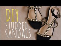 DIY Studded Summer Sandals  This isn't quite sewing, but it is a fast/cheap way to add designer look shoes to those designer knock-off dresses I sew.