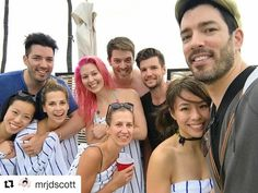 The Scott brothers, Jonathan Silver, JD & Drew with family and friends in Maui on their Christmas vacation 2016