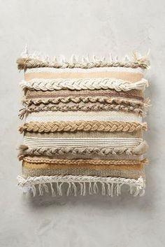 Braided & Woven Pillow   Anthropologie