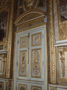Doors inside the Louvre