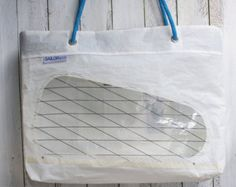 Giant recycled sail tote bag