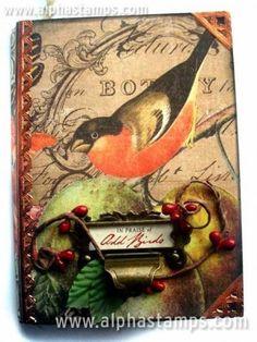 www.AlphaStamps.com Gallery - OddBirdBook_nbattilana_K  Amazing book!