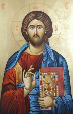 Christus Pantokrator, Jesus Painting, Jesus Art, Spirited Art, Byzantine Icons, Orthodox Christianity, Religious Icons, Art Icon, Catholic Saints