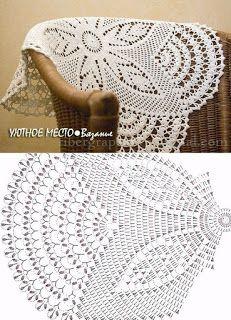 Bildergebnis für mandalas tejidos al crochet patrones Crochet Table Runner Pattern, Free Crochet Doily Patterns, Crochet Tablecloth, Crochet Mandala, Crochet Motif, Crochet Designs, Filet Crochet, Crochet Diagram, Crochet Chart