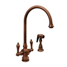 Kitchen Sink Faucet - Side Sprayer, Lever Handles - Vintage III by Whitehaus Collection
