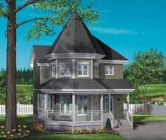 Victorian Charmer - 80249PM | Victorian, Canadian, Metric, Narrow Lot, 2nd Floor Master Suite, CAD Available, PDF, Wrap Around Porch | Architectural Designs