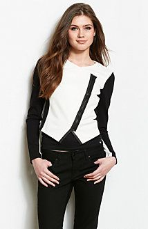 Armani Exchange Cropped Overlap Jacket