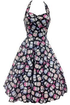 Sugar Skull 50's Rockabilly Dress