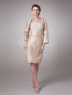 ce7c09992d Champagne Two-Piece Taffeta Mother Of Bride And Groom Dress - Milanoo.com  Bride