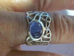 Rare tanzanite silver unique ring. by artsandadornments on Etsy, $45.00
