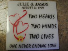 Wedding/Anniversary  Etched Tile by SomeLikeItEtched on Etsy