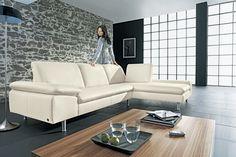 Garnitur fenja modernes kubisches sofa mit sitztiefen for Schwarze wohnlandschaft