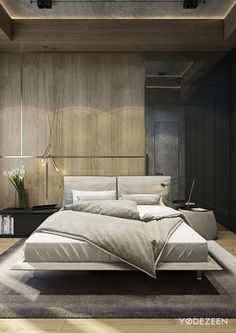 Modern Bedroom Design Inspiration The bedroom is the perfect place at home for relaxation and rejuvenation. While designing and styling your bedroom, Modern Bedroom Furniture, Modern Bedroom Design, Contemporary Bedroom, Home Decor Bedroom, Furniture Design, Modern Contemporary, Bedroom Designs, Bedroom Ideas, Furniture Sets