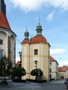 Chapel of the Lord's Mortal Anxiety in České Budějovice (South Bohemia), Czechia Prague, Sacred Architecture, Chapelle, Pilgrimage, Czech Republic, Most Beautiful Pictures, Cities, Religion, Southern