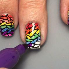 Sharpie Rainbow nails from More Nail Polish