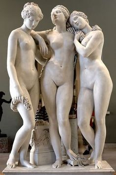 Statue--Les Trois Grâces (Three Graces) by Jean-Jacques Pradier, Louvre, Paris Pablo Picasso, Statues, Art Bizarre, Art Occidental, Steinmetz, Louvre Paris, Creation Art, Museum, Art Plastique