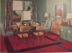VINTAGE DINING ROOM Armstrong's Linoleum Flooring