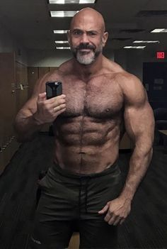 Male Chest, Hairy Chest, Muscle Bear Men, Strong Guy, Husband Best Friend, Bald Man, Clean Shaven, Daddy Bear, Big Muscles