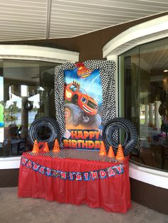 Blaze & the Monster Machines Cake Table