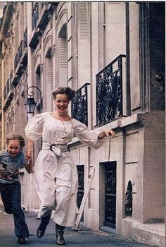 Romy Schneider with David