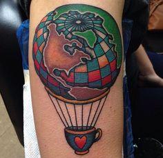Hot Air Balloon tattoo | Tattoo lover...