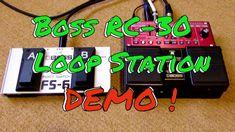 Boss RC30 Loop Station plus FS-6 Demo/Tutorial (Guitar Foot Pedals)