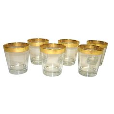 Gold Rim 6-Piece Tumbler Set - Overstock™ Shopping - Great Deals on Tumblers