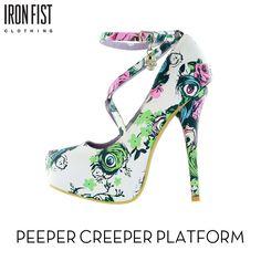 아이언피스트 peeper creeper platform  #ironfist #아이언피스트 #펑키 #유니크 #여자신발 #여자구두 #플랫폼 #하이힐 #스틸레토힐