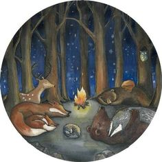 You can almost hear them snore, while dreaming their Forest Dreams. This watercolor and pencil illustration paints an exciting background with this original. Woodland Art, Nursery Neutral, Snoring, Pencil Illustration, Nursery Art, Nursery Ideas, Girl Room, Wall Murals, Cool Art