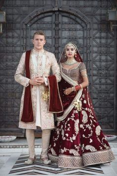 Ideas Indian Bridal Lehenga Red Brides Wedding Outfits For 2019 Couple Wedding Dress, Indian Wedding Couple, Indian Bride And Groom, Indian Weddings, Bride Groom, Indian Wedding Jewellery, Indian Wedding Food, Indian Wedding Bridesmaids, Groom Wedding Dress