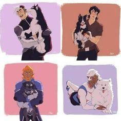 Coran with pups ❤️❤️❤️❤️