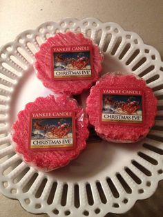 Yankee Candle CHRISTMAS EVE wax tarts set of 3 #YankeeCandle