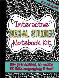 Interactive Social Studies Notebook Kit --  65+ Printables
