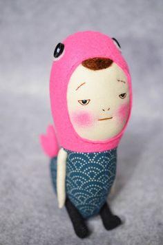 Handmade doll mermaid-plush by EEchingHandmade on Etsy