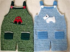"Free pattern for these cute ""Crochet Dungarees""!"