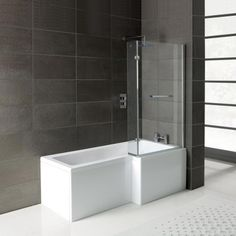 leda shape shower bath with panel amp screen right hand trojan solarno shaped bathroom solutions