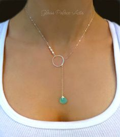 c1f6e9355afc5 Items similar to Gemstone Lariat Necklace Silver
