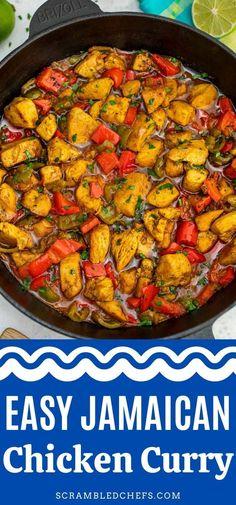 Jamaican Curry Chicken, Chicken Curry, Jamaican Curry Powder, Curry Recipes, Jamaican Recipes, Easy Dinner Recipes, Great Chicken Recipes, Dinner Table, Weeknight Meals