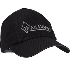 Race Day Running Cap - Black with Silver TrailHeads logo