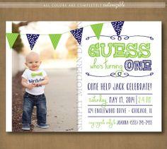 kids birthday invitation, PRINTABLE