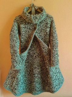 sk - crochet - for adults - Cardigan Au Crochet, Crochet Coat, Knitted Coat, Crochet Clothes, Kids Knitting Patterns, Hand Knitting, Crochet Patterns, Sewing Patterns, Pull Crochet