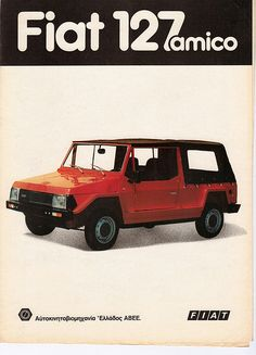 Amico 127 Car Advertising, Old Cars, Fiat, Dune, Offroad, Transportation, Greece, Classic Cars, Trucks
